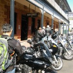 Lined up outside the Pretoria, Mannum.
