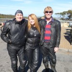 Plenty of leather at the Windy Point carpark Apr 16
