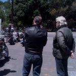 Darryl and David survey the bikes at Meadows