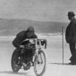 Motor bike races at Sellicks Beach circa 1930