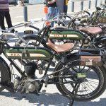 Veteran BSAs by the wharf, 500cc Model A and 557cc Model K.