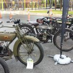 1920 Harley-Davidson Sports Twin, 1915 Douglas 350cc and BSA model K and A.
