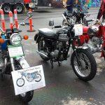 1968 Honda 450, 1962 Triumph 3TA & 1964 Honda C77