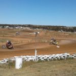 Action from the Murray Williams Sidecar Cup, near Monarto 15/10/17