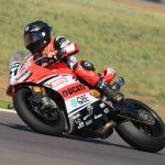 Troy Bayliss at the Australian Superbikes (photo: Ian Roddie)