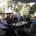 In the Palmer Hotel beer garden