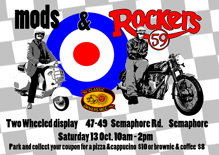 Mods & Rockers at Semaphore @ Marcellinas Restaurant, Semaphore | Semaphore | South Australia | Australia