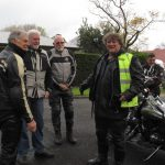 Riders at the start of the ride to The Bend Motorsport Park Sept 18
