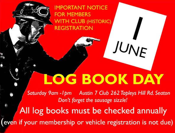 Log Book Day @ Clubrooms, Austin 7 Club