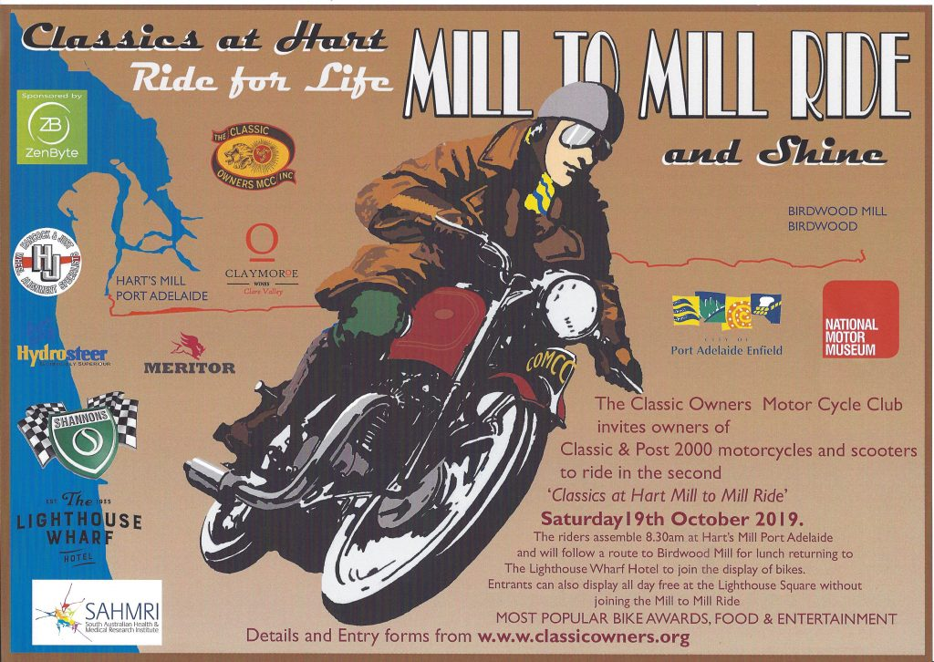 Mill to Mill, Ride For Life 2019 @ Harts Mill, Port Adelaide