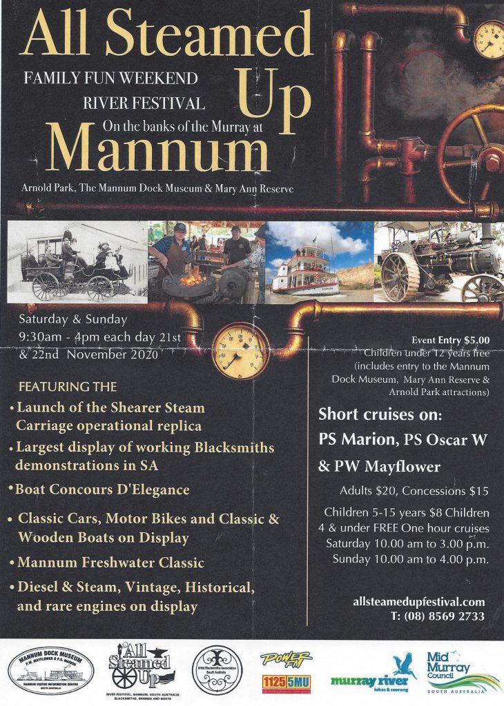 All Steamed Up 2020, Mannum