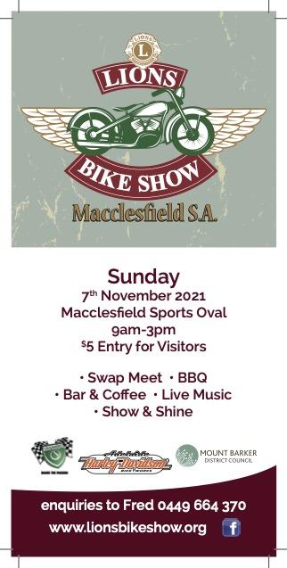 Lions Bike Show @ Macclesfield Oval | Macclesfield | South Australia | Australia